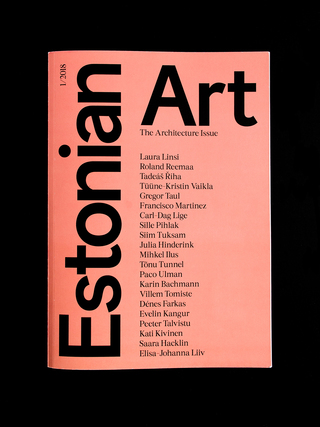Estonian Art Magazine 01/2018